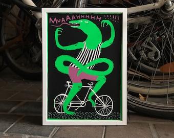 "Screenprint/Screen print ""Bike-Lizzard"" 2nd edition"
