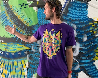 """T-Shirt """"Fancy Mask"""" purple/unisex"""