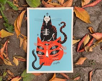 """Screenprint/screen print """"Halloween"""""""