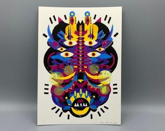 "Screenprint/screen print ""Mickey-Mask"""