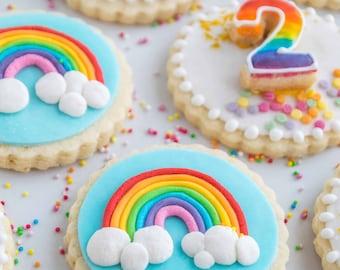 Decorated Rainbow Sugar Cookies Vegan Gluten-free