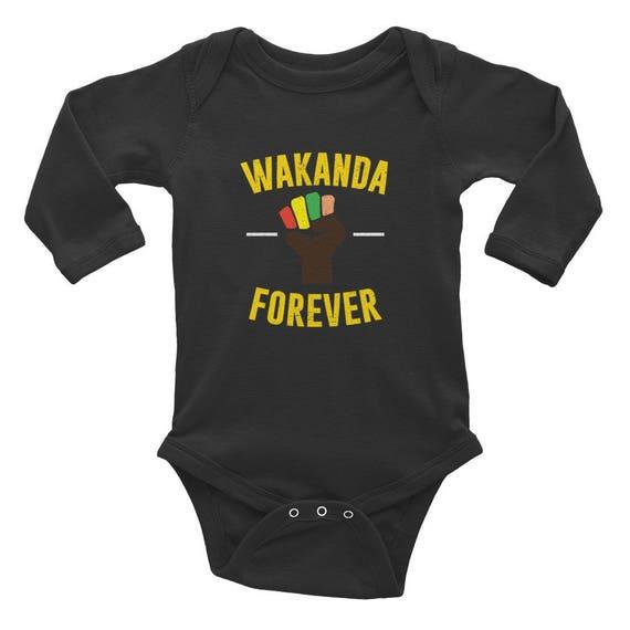 Baby Longsleeve Bodysuit || Black Panther