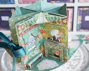 Green [Bean Book Doll House] miniature equipped book