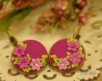 Tickled Pink - Pink Floral Earrings