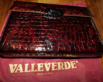 Valleverde handbag Vintage Genuine Leather Krokostyle
