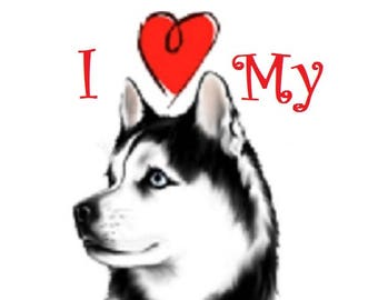 Siberian Husky sled dog counted cross stitch pattern