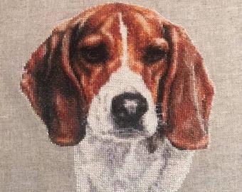 Beagle Hound dog counted cross stitch pattern