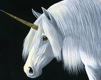 Unicorn Fantasy horse mythical counted cross stitch pattern PDF