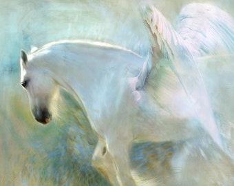Pegasus horse fantasy counted cross stitch pattern PDF download