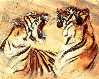 Bengal Tiger wild cats counted cross stitch pattern