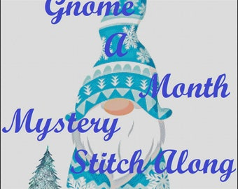 A Gnome a Month for 2021  A monthly release of counted cross stitch patterns featuring gnomes  for a SAL - stitch along