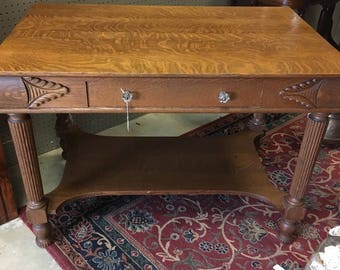 Quick View. Tiger Oak Library Table