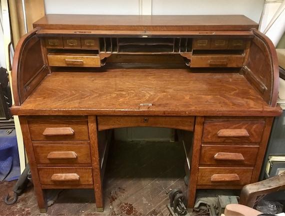 image 0 - Antique Roll Top Desk Etsy