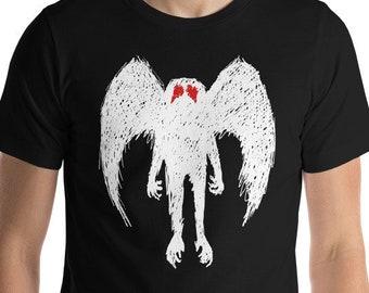 Men's Mothman T Shirt, Mothman Shirt, Point Pleasant Shirt, West Virginia Tshirt, Cryptozoology Shirt, Mothman Figure, The Mothman Shirt