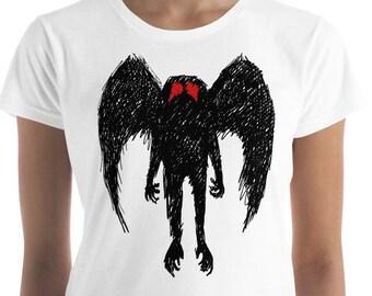 Women's Mothman T Shirt, Mothman Shirt, Point Pleasant Shirt, West Virginia Tshirt, Cryptozoology Shirt, Mothman Figure, The Mothman Shirt