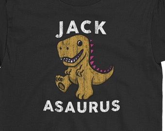 9851a01d5 Name Dinosaur T-shirt Gift Idea Funny Dinosaur shirt For Kids Jack Birthday  Youth Funny Quote Tee Cute T-Rex Slogan Name Personalized Tee