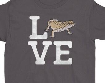 34ca5f397b5 Leopard Gecko Love Heart Shirt