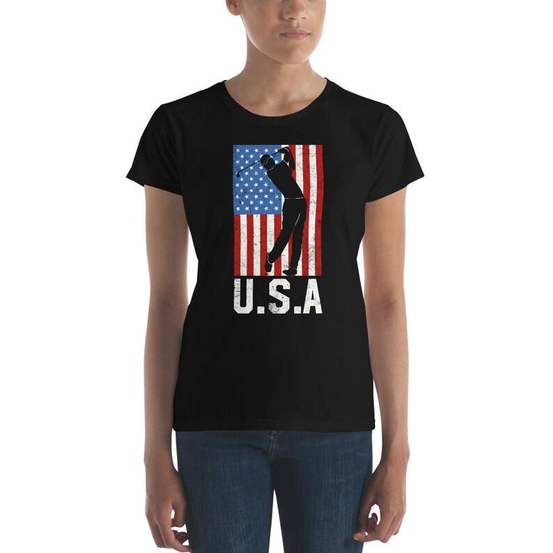 892484a4 Womens USA Golf T-shirt Gift Idea Golf Lover Shirt American | Etsy