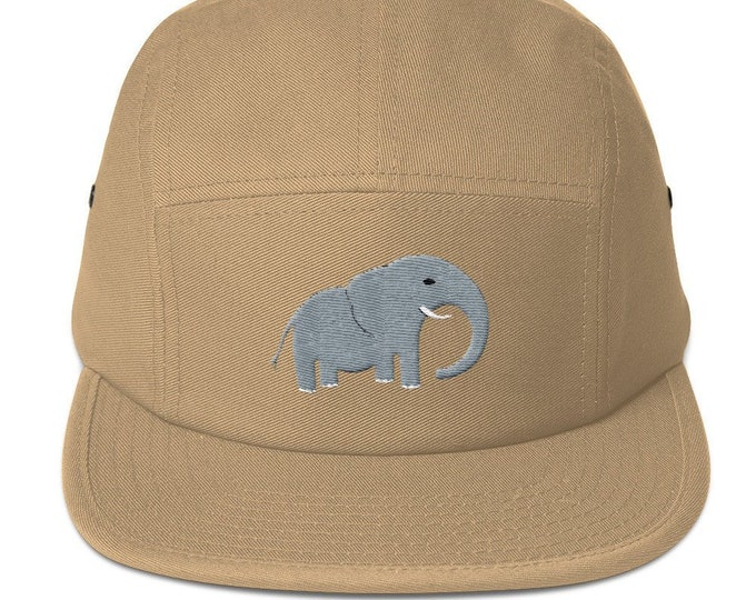 5 Panel Camper Cap Cap Embroidered/Embroidered Elephant/Elephant