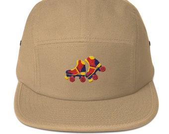 5 Panel Camper Cap Cap Embroidered/Embroidered Roller Skates/Roller Skates