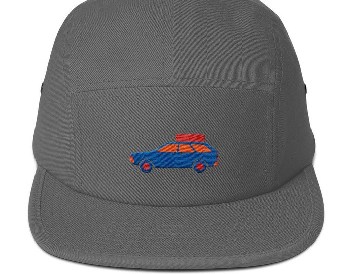 5 Panel Camper Cap Cap Embroidered/Embroidered Station Wagon/Car Station Wagon