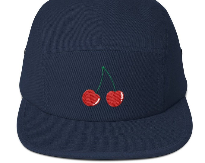 5 Panel Camper Cap Cap Embroidered/Embroidered Cherries/Cherries