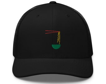Unisex Trucker Cap / Baseball Cap with Embroidered Ramen Soup
