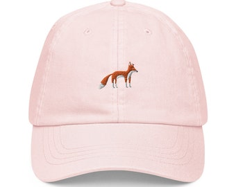 Unisex Dad Hat / Baseball Cap Pastel Embroidered with Fox / Fox