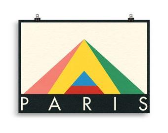 Poster Art Print Illustration – Paris Louvre