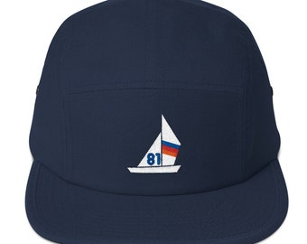 5 Panel Camper Cap Cap Embroidered/Embroidered Boat/Boat