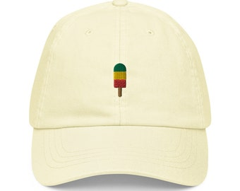 Unisex Dad Hat / Baseball Cap Pastel Embroidered with Ice / Popsicle