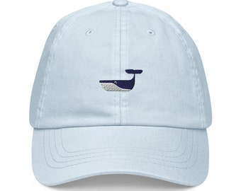 Unisex Dad Hat / Baseball Cap Pastel Embroidered with Whale / Whale