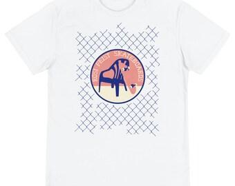 Unisex White Organic-ECO-T-Shirt with Print – Rosi Feist SB