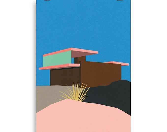 Poster Art Print Illustration – Kaufmann Desert House Palm Springs