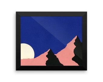 Framed Art Print – Death Valley Moon