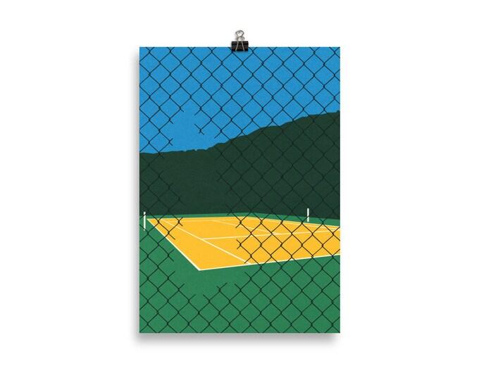 Poster Art Print Illustration – Forest Hills Tennis Club