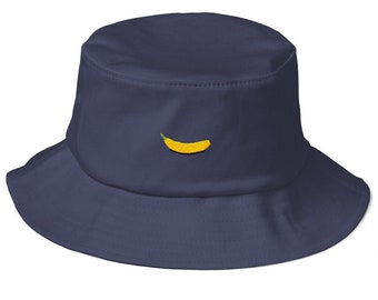 Old School Bucket Hat with embroidered Banana