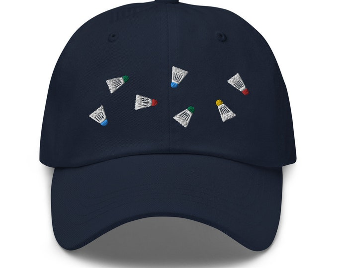 Unisex Dad Hat / Baseball Cap Embroidered with Badminton / Badminton