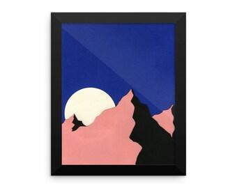 Framed Art Print – Death Valley Moon II