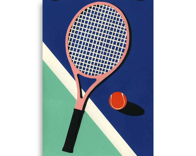 Poster Art Print Illustration – Malibu Tennis Club Rosi Feist
