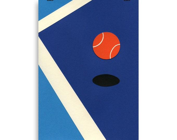 Poster Art Print Illustration – Jumping Tennis Ball Rosi Feist