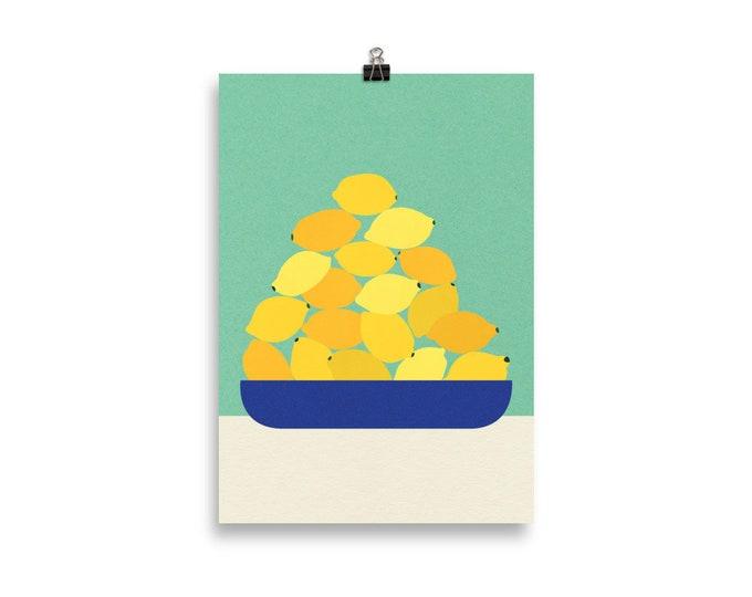 Poster Art Print Illustration - Sicily Lemons