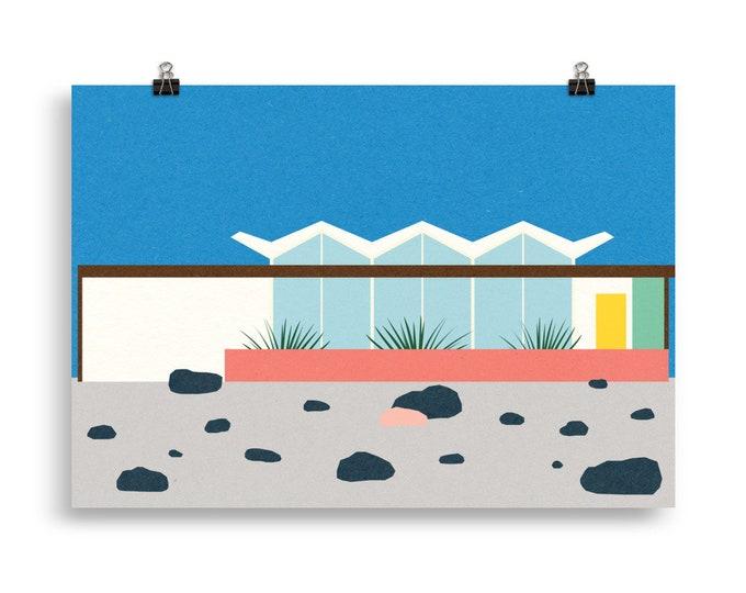 Poster Art Print Illustration – Wexler Barlow House Palm Springs