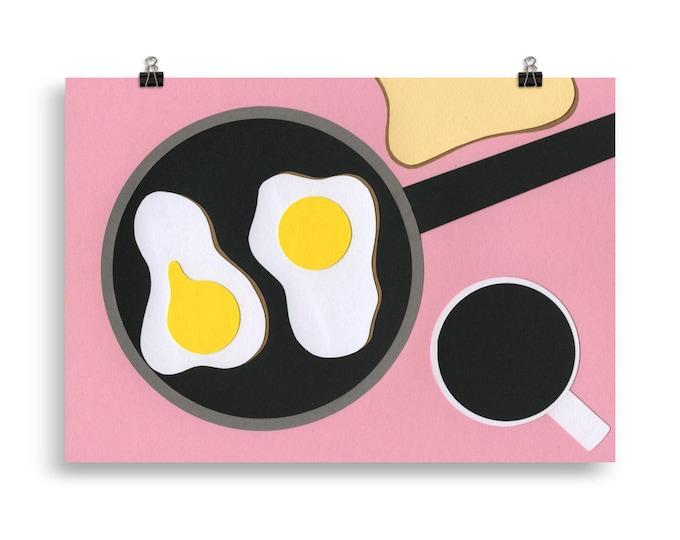 Poster Art Print Illustration - Breakfast at Mr. D'z Rosi Feist