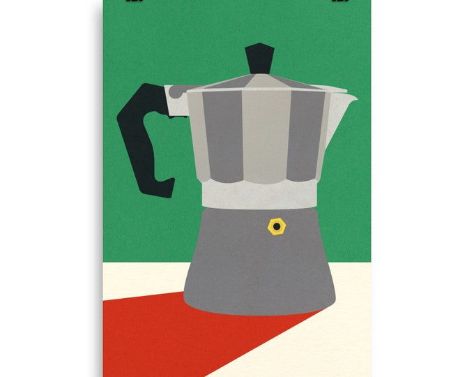 Poster Art Print Illustration – Moka Pot