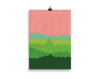 Art Print – Green Mountains