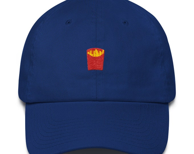Unisex Dad Hat / Baseball Cap with embroidered French Fries