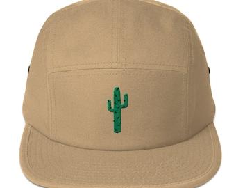 5 Panel Camper Cap Cap Embroidered/Embroidered Cactus/Cactus