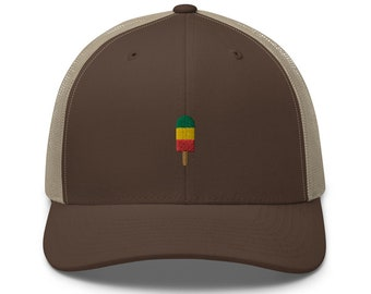 Unisex Trucker Cap / Baseball Cap with Embroidered Ice/Popsicle