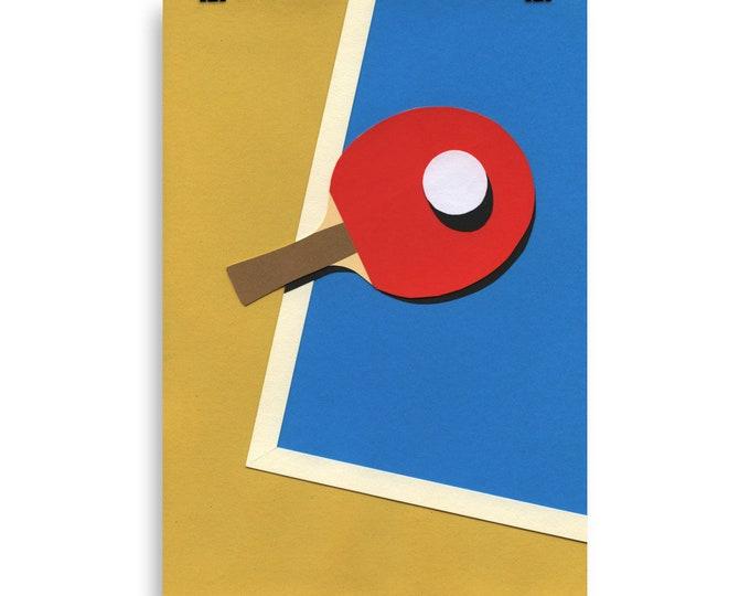Poster Art Print Illustration – Table Tennis Team Red Rosi Feist